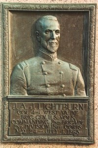 Col. Joseph A. J. Lightburn, bronze relief plaque