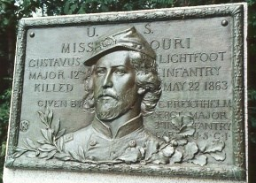 Maj. Gustavus Lightfoot, bronze relief tablet