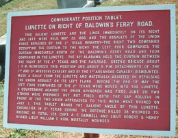 Baldwin's Ferry Road Lunette Position Tablet