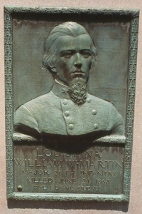 Major William W. Martin, bronze relief portrait