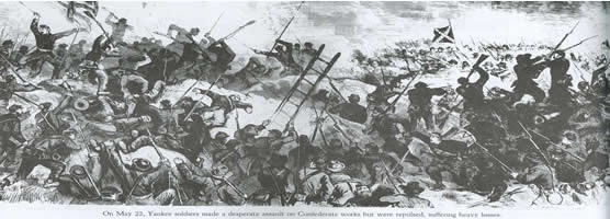 Sketch - May 22, 1863 Assault
