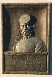 Lt. Col. L. L. McLaurin, bronze relief tablet