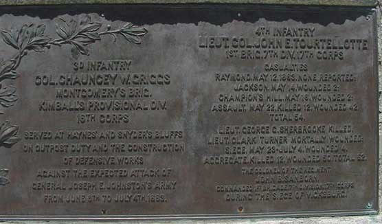 Regimental Plaque, Minnesota State Memorial