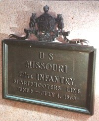 29th Missouri Infantry Unit Position Marker