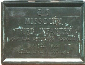 3d Missouri Infantry Assault Marker