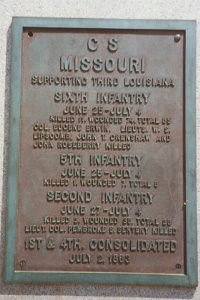 1st/4th Consolidated Missouri Infantry Regimental Monument