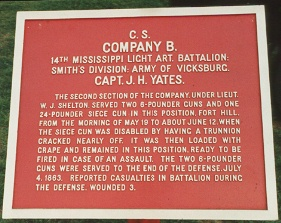 14th Mississippi Battalion Light Artillery, Company B Tablet