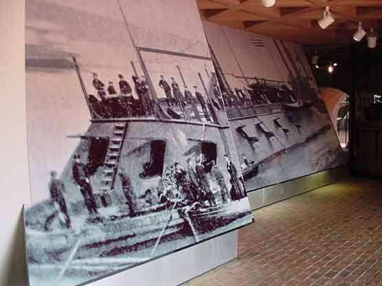 USS Cairo Museum Entrance Mural