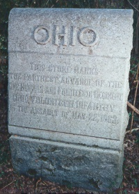 114th Ohio Infantry 22 May 1863 Assault Marker