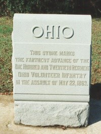 120th Ohio Infantry Sharpshooters Marker