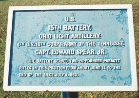 15th Ohio Battery Light Artillery Tablet