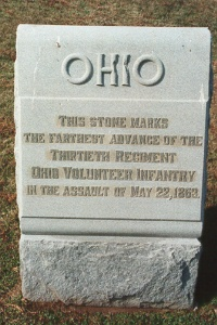 30th Ohio Infantry 22 May 1863 Assault Marker