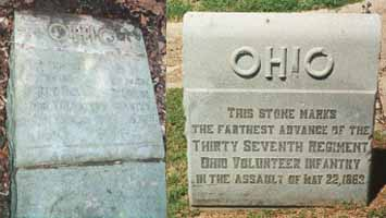 37th Ohio Infantry 19 and 22 May 1863 Assault Markers