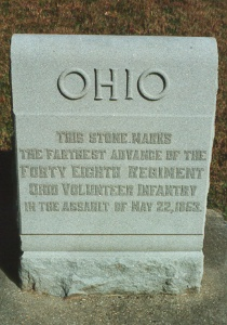 48th Ohio Infantry 22 May 1863 Assault Marker