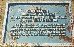 5th Battery Ohio Light Artillery Tablet