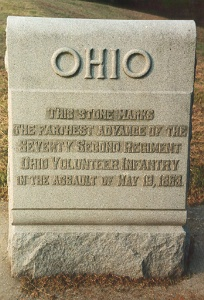 72nd Ohio Infantry 19 May 1863 Assault Marker