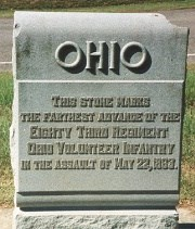 83d Ohio Infantry 22 May 1863 Assault Marker