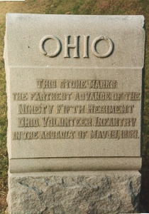 95th Ohio Infantry 19 May 1863 Assault Marker