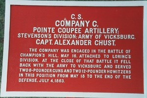 Point Coupee Artillery, Co. C Marker