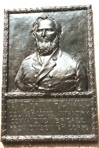 Col. Johnathan Richmond, bronze relief portrait
