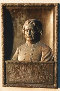 Lt. Col. Madison Rogers, bronze relief portrait