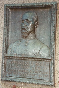 Col. Lawrence S. Ross, bronze relief portrait