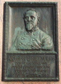 Col. A. E. Reynolds, bronze relief portrait