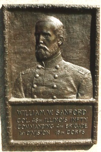 Col. W. W. Sanford, bronze relief portrait