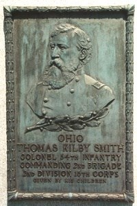 Col. Thomas Kilby Smith, bronze relief portrait