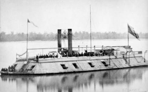 USS Saint Louis with crew aboard