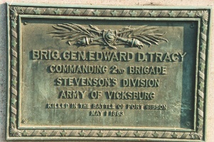 Brig. Gen. Edward D. Tracy, bronze tablet