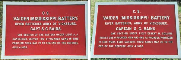 Vaiden's Mississippi Battery Tablets