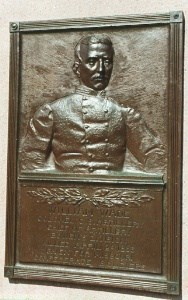 Col. William Wade, bronze relief portrait