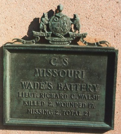 Wade's Battery Missouri Artillery Regimental Monument