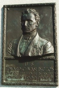 Capt. Edward C. Washington, bronze relief portrait
