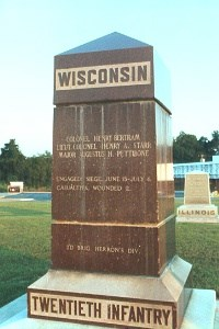 20th Wisconsin Infantry Regimental Marker