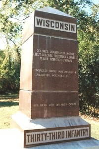 33d Wisconsin Infantry Regimental Marker