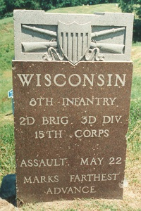 8th Wisconsin Assault Marker, 22 May 1863