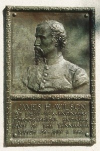 1st Lt. James H. Wilson, bronze relief portrait
