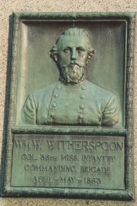 Col. W. W. Witherspoon, bronze relief portrait