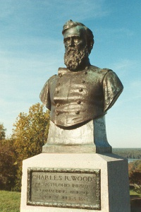 Col. Charles R. Woods, bronze bust