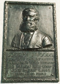 Col. J. J. Woods, bronze relief portrait
