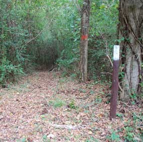 Entrance to the Primitive Hiking Trail