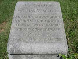 99th Illinois Infantry Assault Marker, May 22, 1863
