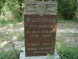 17th Wisconsin Assault Marker, May 19th, 1863