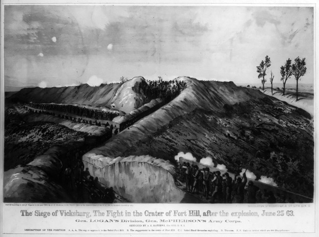 Earthworks at Fort Hill