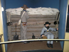 Confederate Trenches Exhibit