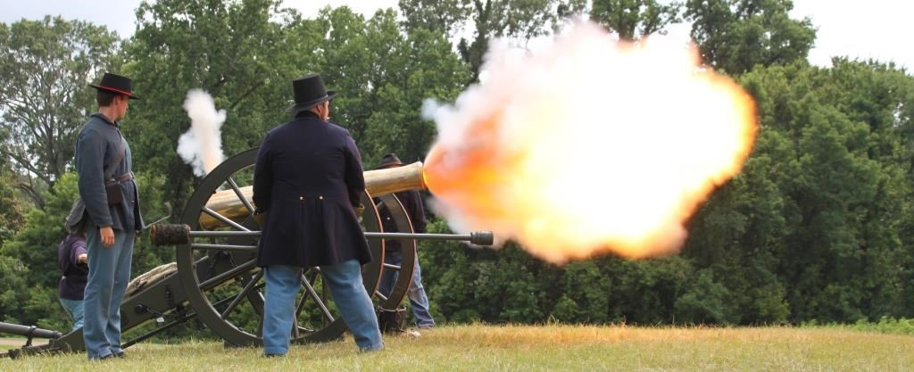 firing of a cannon
