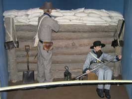 Confederate Trench Exhibit