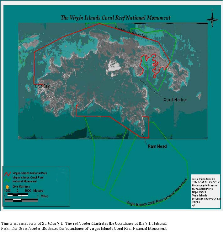 Virgin Islands Coral Reef Boundary Map - Virgin Islands ...